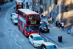 UK ENGLAND LONDON 21JUL15 - Red double-decker buses arrive in London Bridge at the start of a working day in London.<br /> <br /> <br /> <br /> jre/Photo by Jiri Rezac / Greenpeace<br /> <br /> <br /> <br /> © Jiri Rezac 2015
