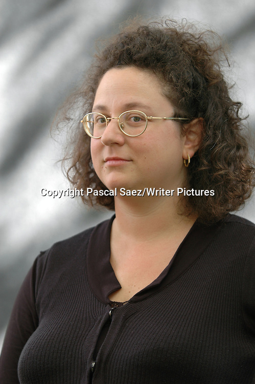 Poet and writer Sophie Hannah at the Edinburgh International Book Festival 2007. <br /> <br /> Copyright Pascal Saez/Writer Pictures<br /> <br /> contact +44 (0)20 8241 0039<br /> sales@writerpictures.com<br /> www.writerpictures.com