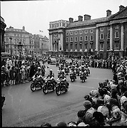Royal Visit to Ireland by Princess Grace and Prince Rainier of Monaco. The royal party at College Green en route to Áras an Uachtarain..10.06.1961