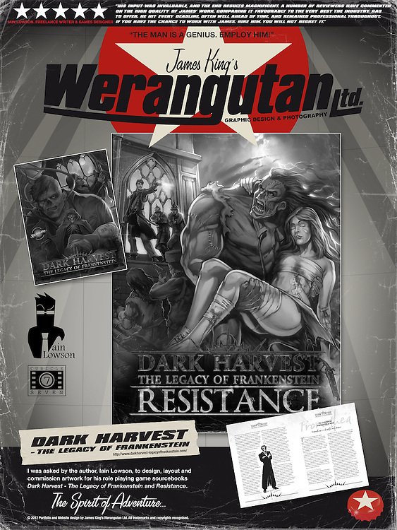 Dark Harvest - The Legacy of Frankenstein and Dark Harvest - Resistance.<br />