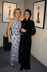 Left to right, LINDKA CIERACH and TRUDY GOOD at a private view of fashion designer Lindka Cierach's Couture Dresses drawn by Trudy Good held at the Belgravia Gallery, 45 Albemarle Street, London on 21st September 2005.<br /><br />NON EXCLUSIVE - WORLD RIGHTS
