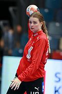 Althea Reinhardt fra Danmark under VM-playoff-kampen mellem Danmark og Schweiz i Roskilde Kongrescenter Bauhaus Arena, den 1.6.2019. Photo Credit: Allan Jensen/Søren Tidemann/EVENTMEDIA.