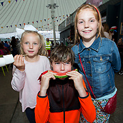14.06.2018.             <br /> Limerick Food Group hosted the Urban Food Fest street food evening in the Milk Market on Thursday June 14th with a 'Summer Fiesta' theme in one big Limerick city summer party.<br /> <br /> Pictured at the event were, Molly, Zak and  Charleigh McInerney. Picture: Alan Place