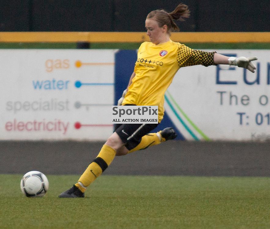 Rachel Harrison, Spartans. Scottish Women's Premier League Cup Final 2012. Spartans v Glasgow City. Recreation Park, Alloa. © Russell Sneddon | StockPix.eu