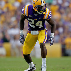 19 September 2009: LSU Tigers running back Patrick Lipoma (24) lines up for a play during a 31-3 win by the LSU Tigers over the University of Louisiana-Lafayette Ragin Cajuns at Tiger Stadium in Baton Rouge, Louisiana.