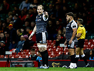Alun Wyn Jones of Ospreys<br /> <br /> Photographer Simon King/Replay Images<br /> <br /> Guinness PRO14 Round 21 - Cardiff Blues v Ospreys - Saturday 27th April 2019 - Principality Stadium - Cardiff<br /> <br /> World Copyright © Replay Images . All rights reserved. info@replayimages.co.uk - http://replayimages.co.uk