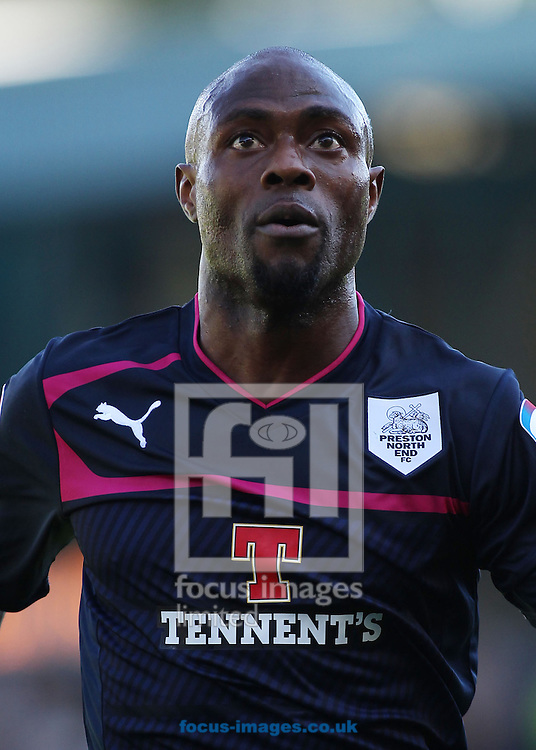Picture by Michael Sedgwick/Focus Images Ltd +44 7900 363072.08/09/2012.Akpo Sodje of Preston North End during the match against Bury in the npower League 1 at Gigg Lane, Bury.