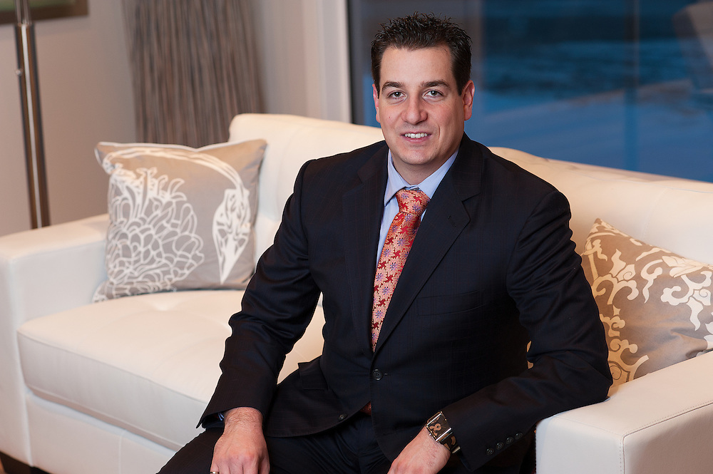 Portrait of Vince Oliverio, Re/Max Central realtor and owner of O2 Developments photographed by commercial photographer Brett Gilmour