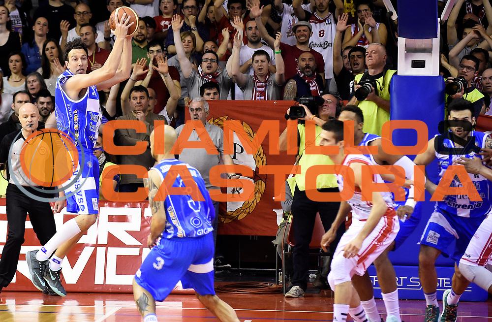 DESCRIZIONE : Reggio Emilia Campionato Lega A 2014-15 Grissin Bon Reggio Emilia Dinamo Banco di Sardegna Sassari<br /> GIOCATORE : Giacomo Devecchi<br /> CATEGORIA : Rimbalzo Controcampo Composizione<br /> SQUADRA : Dinamo Banco di Sardegna Sassari<br /> EVENTO : Campionato Lega A 2014-15<br /> GARA : Grissin Bon Reggio Emilia Dinamo Banco di Sardegna Sassari<br /> DATA : 12/04/2015<br /> SPORT : Pallacanestro <br /> AUTORE : Agenzia Ciamillo-Castoria/A.Giberti<br /> Galleria : Campionato Lega A 2014-15  <br /> Fotonotizia : Reggio Emilia Campionato Lega A 2014-15 Grissin Bon Reggio Emilia Dinamo Banco di Sardegna Sassari<br /> Predefinita :