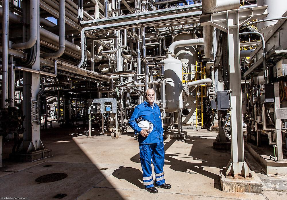 Sannazzaro De Burgondi, Pavia, ENI refinery, ENI Ceo Claudio Descalzi