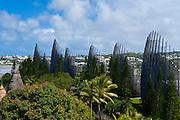 Tjibaou cultural center in Noumea capital of New Caledonia, Melanesia, South Pacific