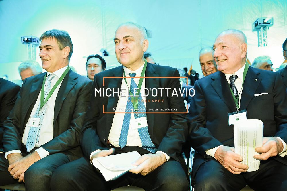 Marco, Guido e Vittorio Ghisolfi all'inaugurazione della Beta Renewables Mossi & Ghisolfi a Crescentino (VC) Italy.  Il primo impianto al mondo per la produzione di biocarburanti di seconda generazione