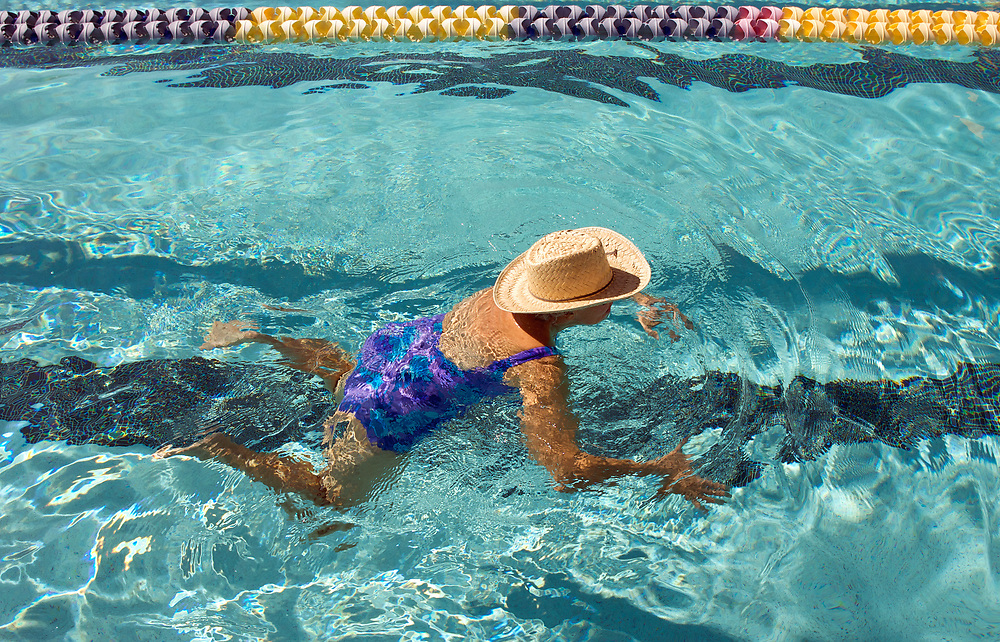 UNITED STATES-SUN CITY-Swimming pool in Sun City, a retirement community in Arizona. PHOTO: GERRIT DE HEUS <br /> VERENIGDE STATEN-SUN CITY-  Sun City. Zwembad. PHOTO GERRIT DE HEUS