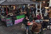 London, England, Uk, November 24 2018 - In the footsteps of Claude Monet in London: Street Food Union, a street food market in Rupert Street, Soho, former place for soup kitchens in the beginning of 20s century.