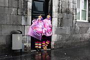 Viering van carnaval in een verregend Maastricht