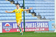 Shaun Cummings of Millwall (2)0 celebrates after scoring during the EFL Sky Bet League 1 match between Coventry City and Millwall at the Ricoh Arena, Coventry, England on 4 February 2017. Photo by Andy Handley.