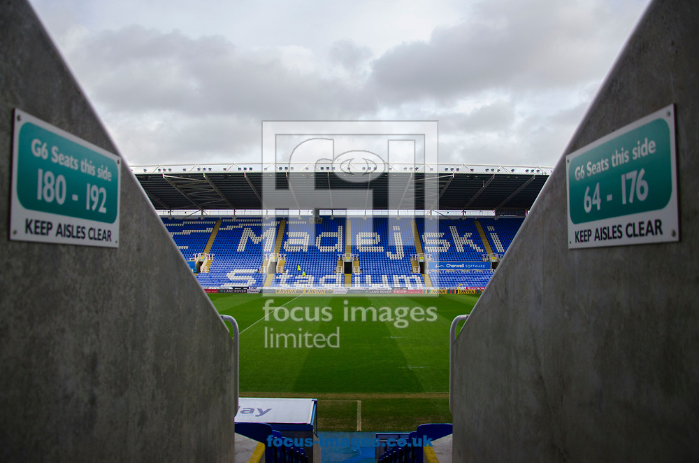 General View of the Madjeski Stadium before the game between London Irish and Newcastle Falcons during the Aviva Premiership match at the Madejski Stadium, Reading<br /> Picture by Daniel Murphy/Focus Images Ltd 07415921094<br /> 30/12/2017