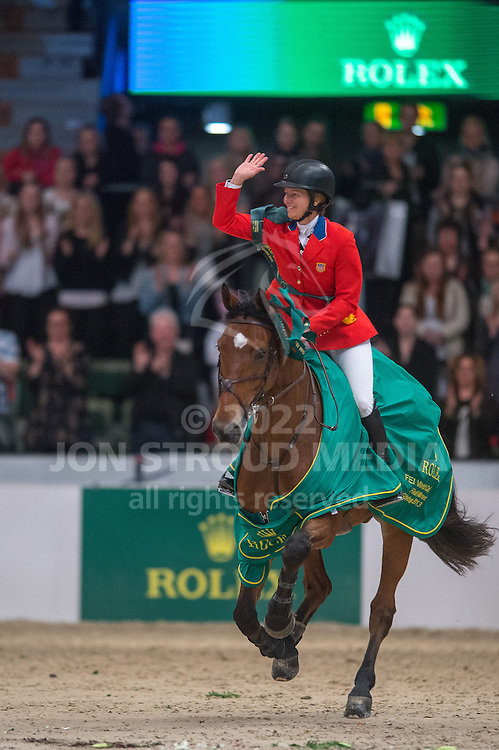 Beezie Madden (USA) & Simon winners of the 2013 Rolex FEI World Cup Jumping Final - Gothenburg Horse Show 2013 - Scandinavium, Gothenburg, Sweden - 28 April 2013