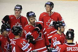 Eric Staal (right back) of Canada after ice-hockey game Canada vs Germany in Qualifying Round Group F, at IIHF WC 2008 in Halifax,  on May 10, 2008 in Metro Center, Halifax, Nova Scotia,Canada. Canada won 11:1. (Photo by Vid Ponikvar / Sportal Images)