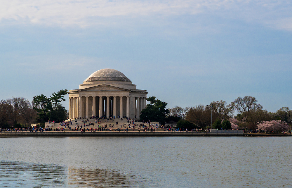 Washington, DC, USA — March 30, 2019.  The Jefferson Memorial on a clear spring morning.