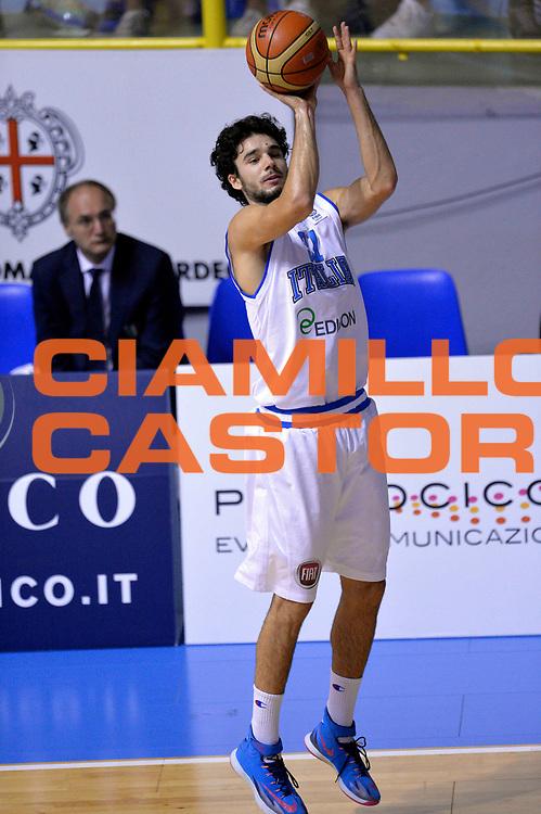 DESCRIZIONE : Cagliari Qualificazione Eurobasket 2015 Qualifying Round Eurobasket 2015 Italia Svizzera Italy Switzerland<br /> GIOCATORE : Michele Vitali<br /> CATEGORIA : Tiro Three Points<br /> EVENTO : Cagliari Qualificazione Eurobasket 2015 Qualifying Round Eurobasket 2015 Italia Svizzera Italy Switzerland<br /> GARA : Italia Svizzera Italy Switzerland<br /> DATA : 17/08/2014<br /> SPORT : Pallacanestro<br /> AUTORE : Agenzia Ciamillo-Castoria/Max.Ceretti<br /> Galleria: Fip Nazionali 2014<br /> Fotonotizia: Cagliari Qualificazione Eurobasket 2015 Qualifying Round Eurobasket 2015 Italia Svizzera Italy Switzerland<br /> Predefinita :