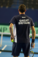 Britain's Jamie Murray pictured during Davis Cup Practise Day at Birmingham Indoor Arena, Birmingham<br /> Picture by Anthony Stanley/Focus Images Ltd 07833 396363<br /> 03/03/2016