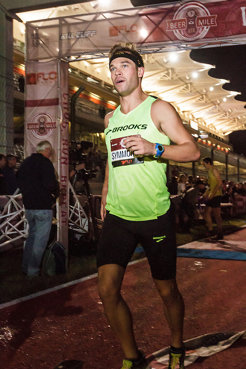 Beer Mile World Championships, Inaugural, Nick Symmonds finishes