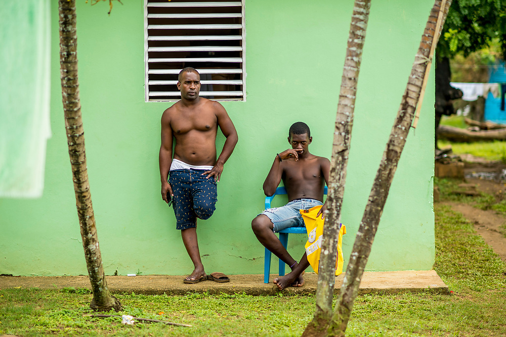 July 20, 2017, Dominican Republic:<br /> Boys look on in El Mam&oacute;n during the 2017 Lindos Sue&ntilde;os trip in the Dominican Republic Thursday, July 20, 2017. <br /> (Photo by Billie Weiss/Boston Red Sox)