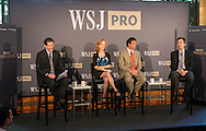 The WSJpro Central Banking Breakfast panel discussion with the Wall Street Journal's Ken Brown, Heard on the Street editor and senior Columnist, Jon Hilsenrath, Chief Economics Correspondent, Nell Henderson, Global Central Banking Editor, and Greg Ip, Chief Economic Commentator,  in New York City on June 12, 2016. (photo by Gabe Palacio)