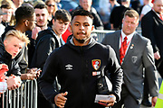 Lys Mousset (31) of AFC Bournemouth arriving at the Vitality Stadium before the Premier League match between Bournemouth and Manchester United at the Vitality Stadium, Bournemouth, England on 18 April 2018. Picture by Graham Hunt.