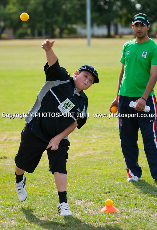 during the NCC Super Camp, an initiative by The National Bank to connect with the grass roots of cricket, hosted by Hamilton Star University Cricket Club, Waikato University, Hamilton, New Zealand, Wednesday 5 January 2011. Photo: Stephen Barker/PHOTOSPORT