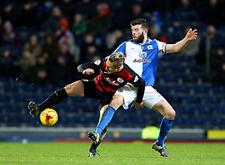 Sebastian Polter of Queens Park Rangers battles with Grant Hanley of Blackburn Rovers - Mandatory byline: Matt McNulty/JMP - 12/01/2016 - FOOTBALL - Ewood Park - Blackburn, England - Blackburn Rovers v QPR - SkyBet Championship