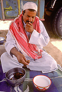 Nasser Al Amrah, dates and camels milk.