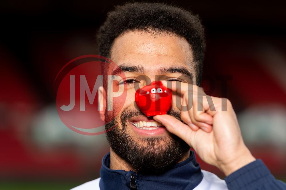 Lewis Champion of Bristol Flyers during a photo call at Ashton Gate for Red Nose Day - Ryan Hiscott/JMP - 06/03/2019 - SPORT - Ashton Gate Stadium - Bristol, England - Bristol Sport Red Nose Day