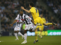 Photo: Rich Eaton.<br /> <br /> West Bromwich Albion v Sheffield Wednesday. Coca Cola Championship. 13/04/2007. Nathan Ellington left of West Brom and Richard Wood go for a high ball