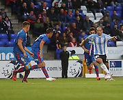 Dundee's Gary Harkins runs at the Inverness Caledonian Thistle defence - Inverness Caledonian Thistle v Dundee, SPFL Premiership at Tulloch Caledonian Stadium<br /> <br />  - &copy; David Young - www.davidyoungphoto.co.uk - email: davidyoungphoto@gmail.com