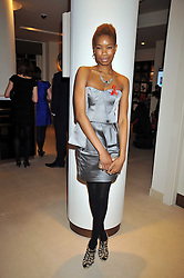 TOLULA ADEYEMI at the Lighthouse Gala Charity Auction in aid of the Terrence Higgins Trust held at Christie's, St.James' London on 23rd March 2009.