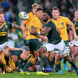 Siyamthanda Kolisi of South Africa in action