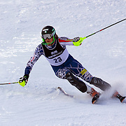 Will Gregorak, USA, in action during the Men's Slalom event during the Winter Games at Cardrona, Wanaka, New Zealand, 24th August 2011. Photo Tim Clayton...