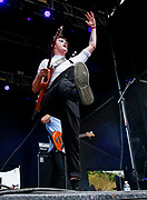 CHICAGO, IL - AUGUST 03: Recording artist Jake Luppen of Hippo Campus  performs at Grant Park on August 3, 2017 in Chicago, Illinois. (Photo by Michael Hickey/Getty Images) *** Local Caption *** Jake Luppen