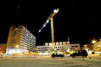 &Aring;lesund 13012011.<br /> R&aring;dhuset i &Aring;lesund under oppussing. R&aring;dhuset var av mange ansett som byens styggeste bygning f&oslash;r oppussingen startet.<br /> <br /> The City Hall in Aalesund, considered by many as the city's ugliest building before the renovation began.<br /> Foto: Svein Ove Ekornesv&aring;g