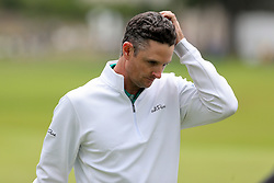 September 10, 2018 - Newtown Square, Pennsylvania, United States - Justin Rose reacts after missing a putt on the 18th green during the final round of the 2018 BMW Championship. (Credit Image: © Debby Wong/ZUMA Wire)