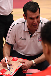 Andreas Kapoulas head coach of Bristol Flyers - Photo mandatory by-line: Paul Knight/JMP - Mobile: 07966 386802 - 30/01/2016 - BASKETBALL - SGS Wise Arena - Bristol, England - Bristol Flyers v Leeds Force - British Basketball League