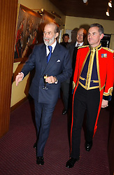 Left to right, HRH PRINCE MICHAEL OF KENT and and COL.VALENTINE WOYKA Commanding officer of the Household Cavalry at a reception to support The Hyde Park Appeal held in the Officers Mess, Household Cavalry Mounted Regiment, Hype Park Barracks, Knightsbridge, London SW1 on 30th November 2004.<br /><br />NON EXCLUSIVE - WORLD RIGHTS