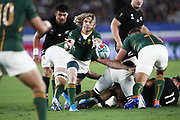 Faf DE KLERK (RSA) during the Japan 2019 Rugby World Cup Pool B match between New Zealand and South Africa at the International Stadium Yokohama in Yokohama on September 21, 2019. Photo Kishimoto / ProSportsImages / DPPI