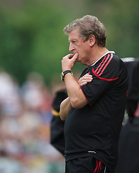 ZUG, SWITZERLAND - Wednesday, July 21, 2010: Liverpool's manager Roy Hodgson watches as his side take on Grasshopper Club Zurich during the Reds' first preseason match of the 2010/2011 season at the Herti Stadium. (Pic by David Rawcliffe/Propaganda)