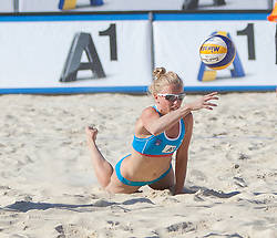 31.07.2013, Klagenfurt, Strandbad, AUT, A1 Beachvolleyball EM 2013, im Bild  Marloes Wesselink 2 NED // during the A1 Beachvolleyball European Championship at the Strandbad Klagenfurt, Austria on 2013/07/31. EXPA Pictures © 2013, EXPA Pictures © 2013, PhotoCredit: EXPA/ Mag. Gert Steinthaler