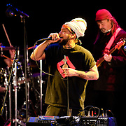 "April 9, 2011 - Manhattan, NY : M.O.D. Technologies' Doctor Israel, center, performs during the Japan Society's 12-hour-long special ""Concert For Japan"" charity event on Saturday.  (This was taken during the 6-7:20pm Gala Block)... CREDIT: Karsten Moran for The New York Times."