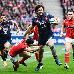 Kevin Gourdon of France during the RBS Six Nations match between France and Wales at Stade de France on March 18, 2017 in Paris, France. (Photo by Anthony Dibon/Icon Sport)