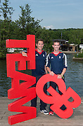 Caversham, Nr Reading, Berkshire.<br /> <br /> GBR LM2X. left William FLETCHER and Richard CHAMBERS Olympic Rowing Team Announcement  Press conference at the RRM. Henley.<br /> <br /> Thursday  09.06.2016<br /> <br /> [Mandatory Credit: Peter SPURRIER/Intersport Images]